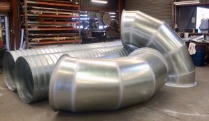 1000 diameter ducting made for Airtight Solutions, QLD